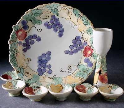 8 Piece Seder set, Fruit
