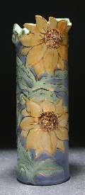 "14"" Medium vase, Sunflower pattern"